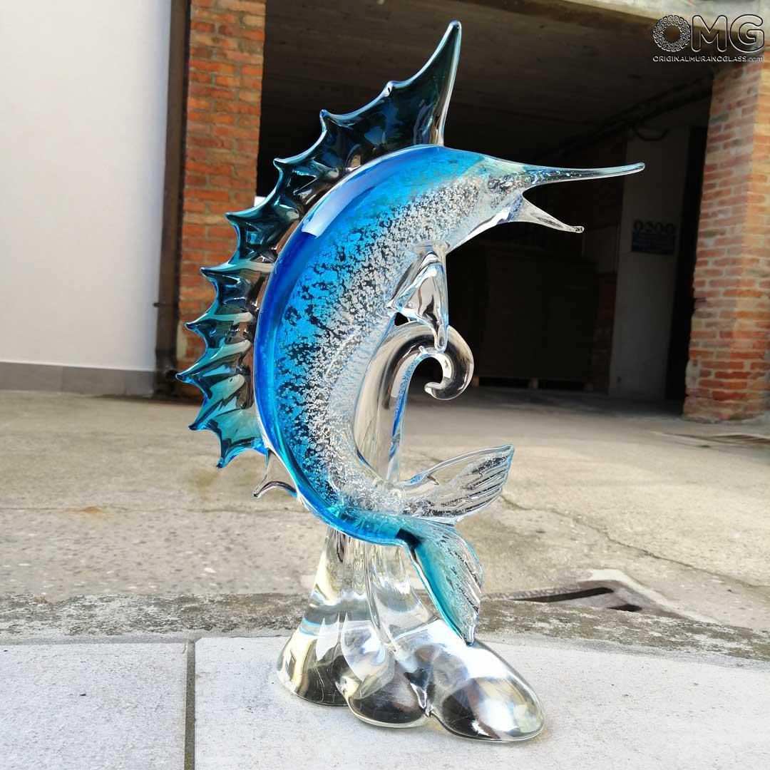 Скульптура Рыба-меч - муранское стекло OMG