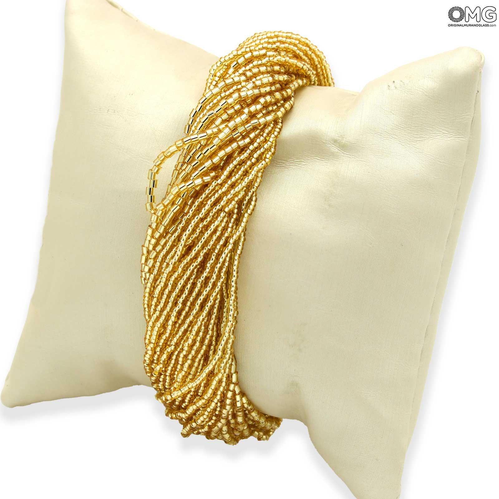 Bracelet Millefili Conterie - Gold - Original Murano Glass OMG®