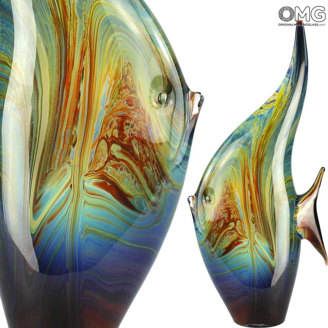 Скульптура Тропическая рыба Луна - автор Andrea Tagliapietra - муранское стекло
