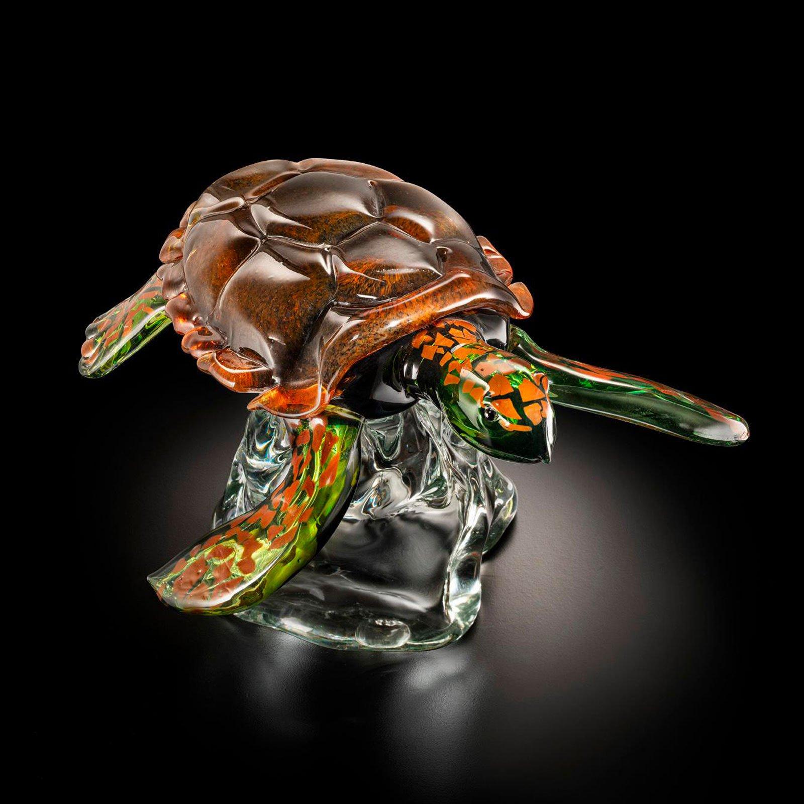 Marine Turtle - Sculpture - Original Murano Glass