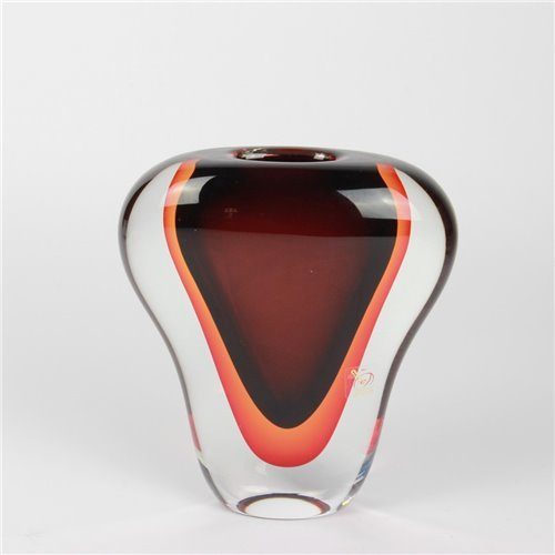 Vase Cobra Red Sommerso Murano Glass