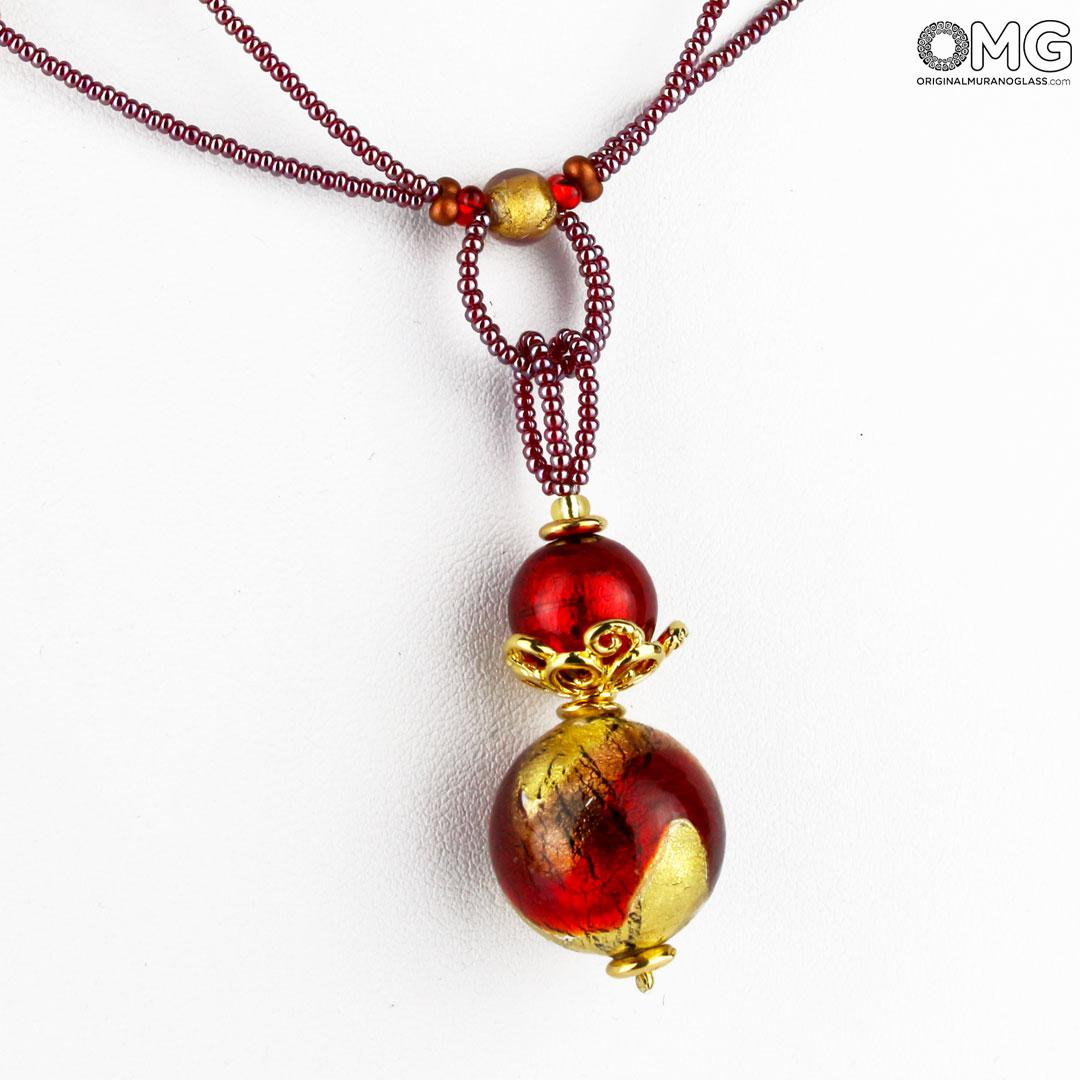 Necklace Cecilia - with gold - Original Murano Glass OMG