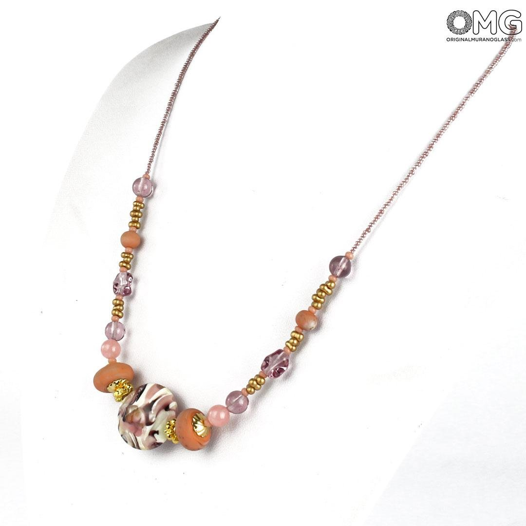 Necklace Diana - Pink - Original Murano Glass OMG