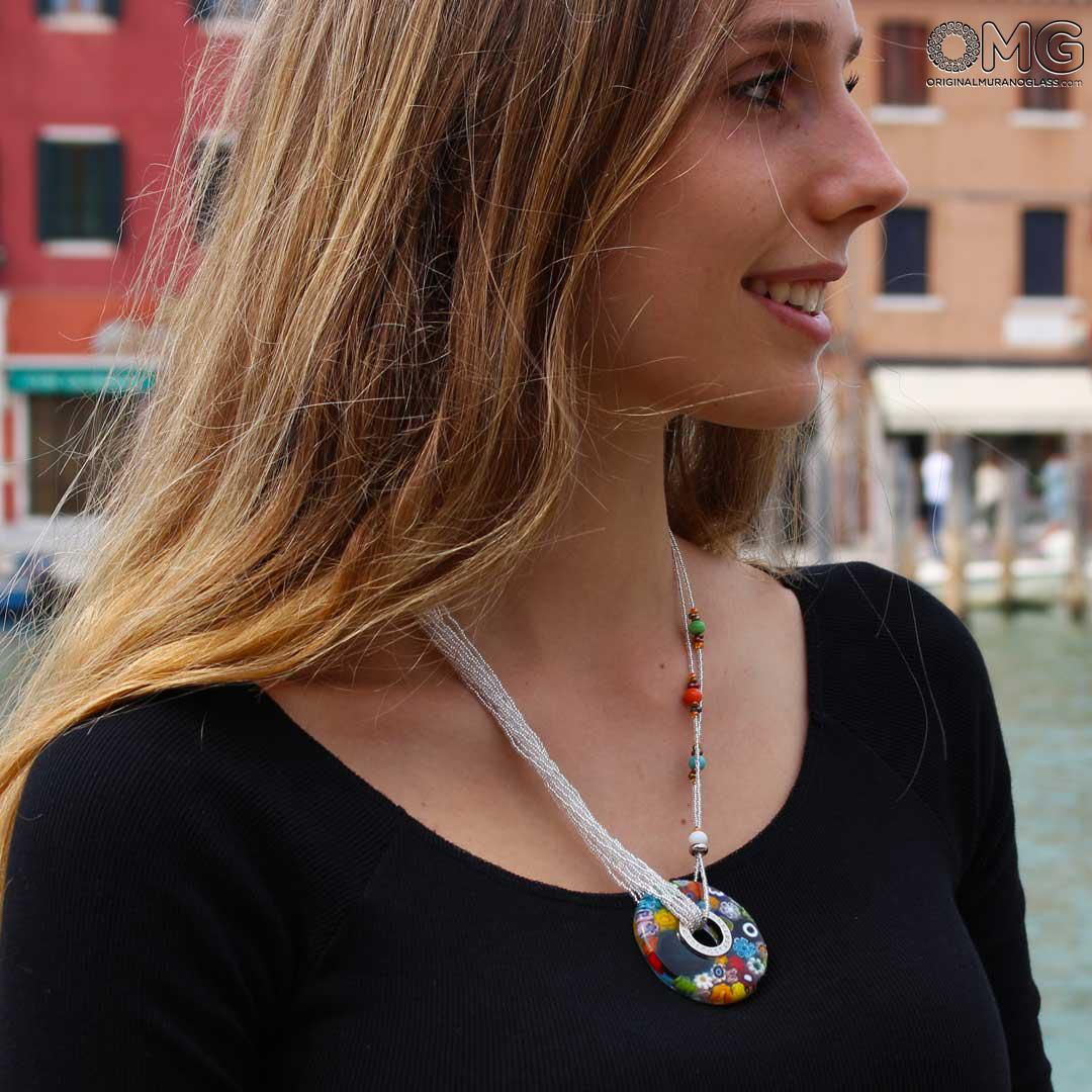 Necklace Clara - Multicolor - Original Murano Glass OMG