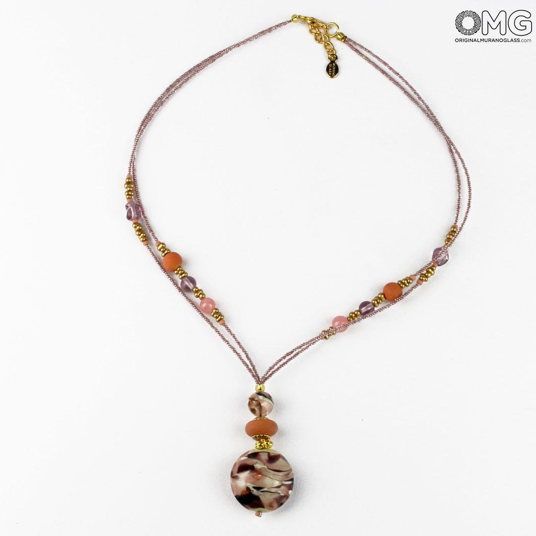 Necklace Gaia - Pink - Original Murano Glass OMG