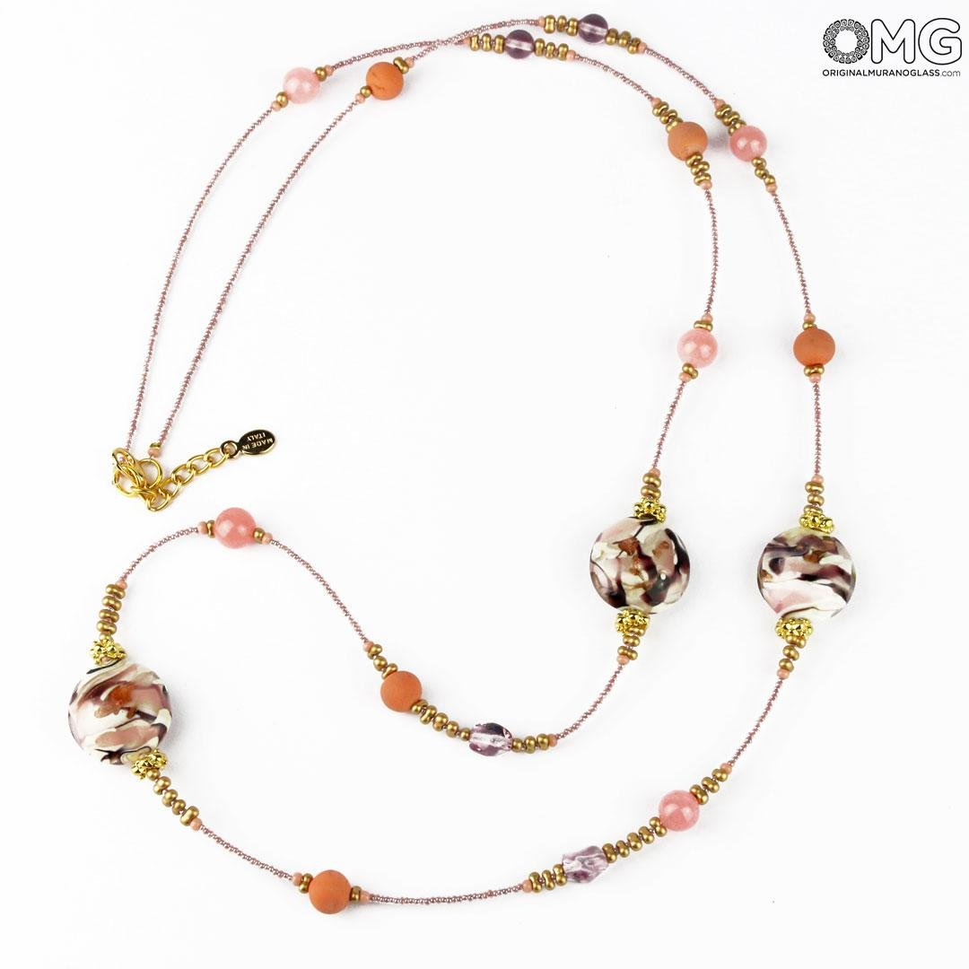 Necklace Flaminia - Pink - Original Murano Glass OMG