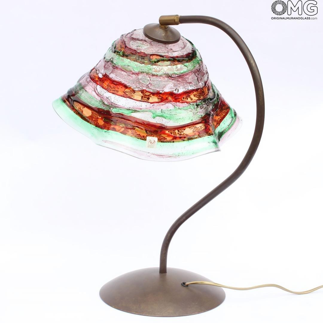 Table Lamp Sbruffi one light - Murano Glass