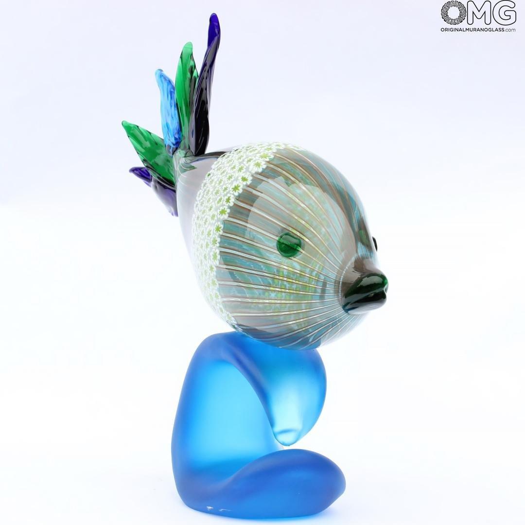 Tropical Fish Lipe - Millefiori and cannes - Original Murano Glass