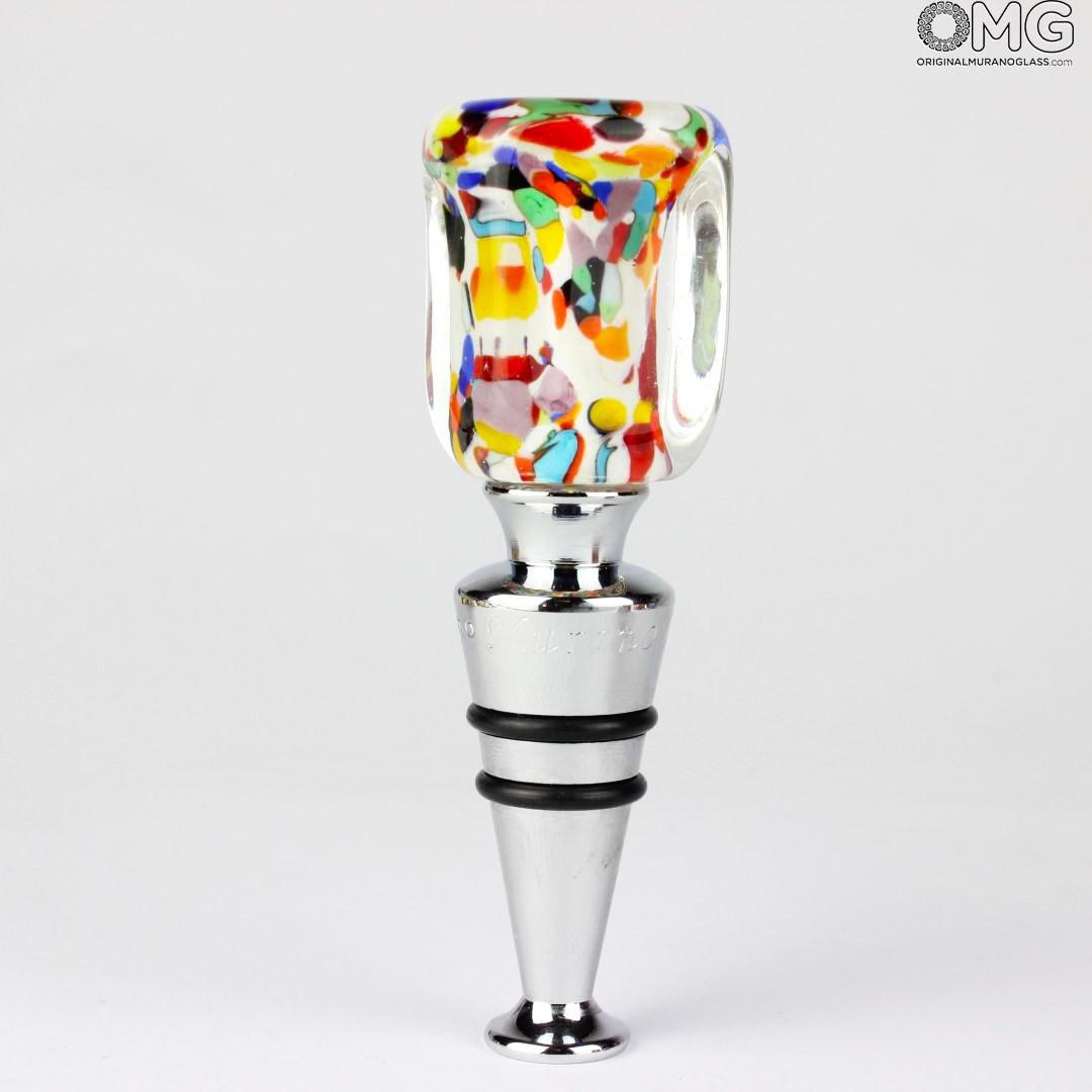 Bottle stopper - Carnival + Box - Original Murano Glass OMG