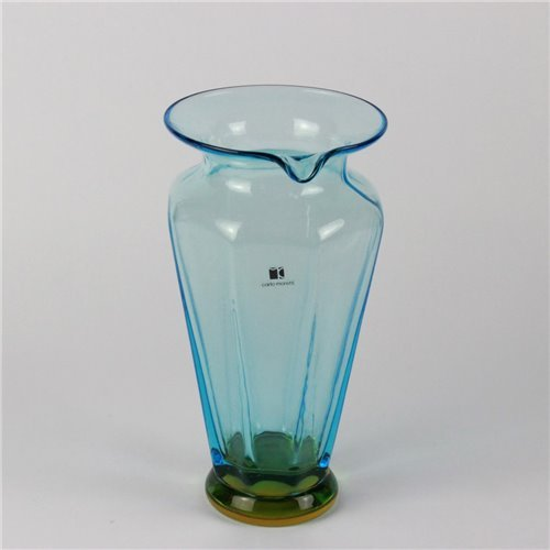 Pitcher Light Blue Amber - Carlo Moretti - Original Murano Glass OMG