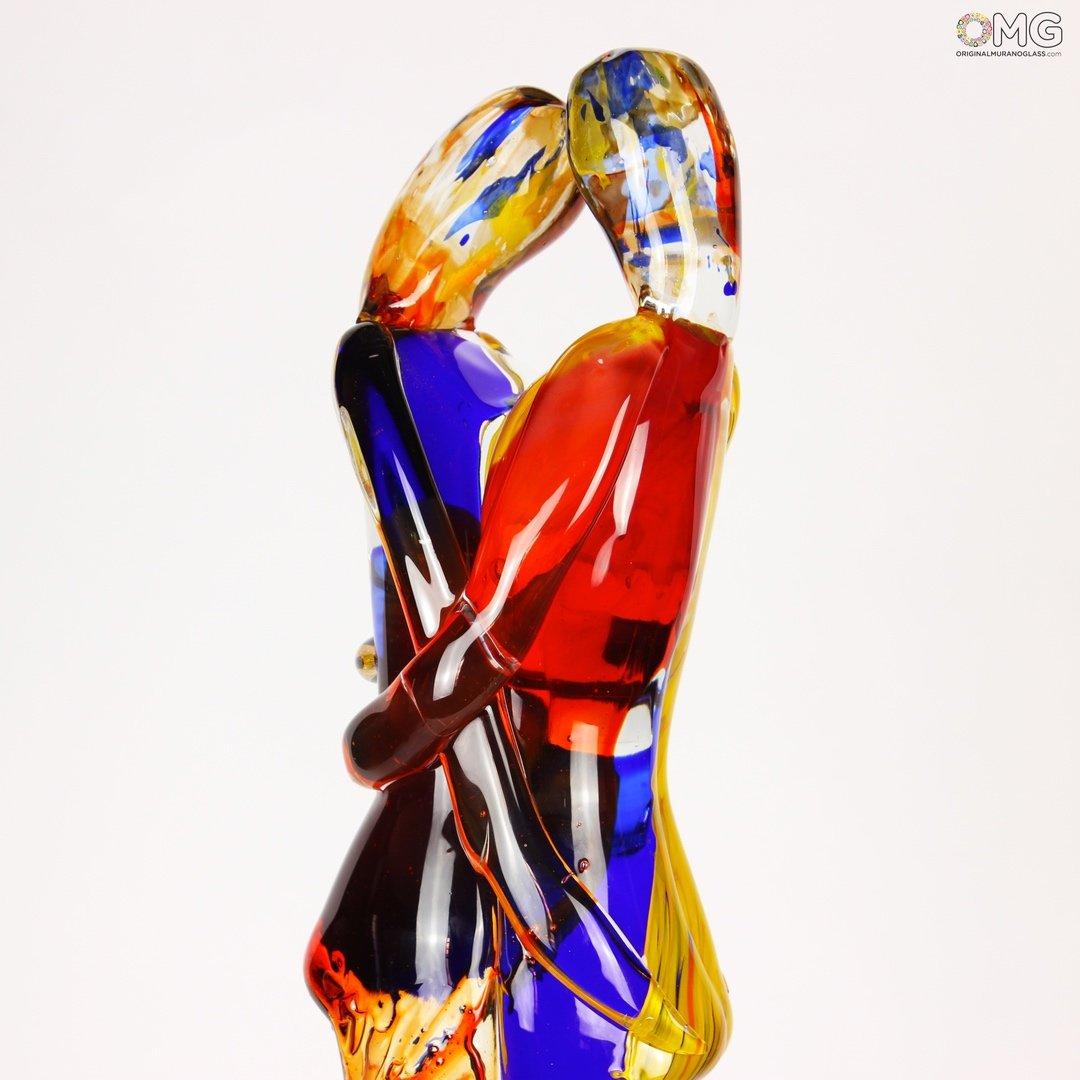Lovers Summer Fantasy Multicolor - Murano Glass Sculpture
