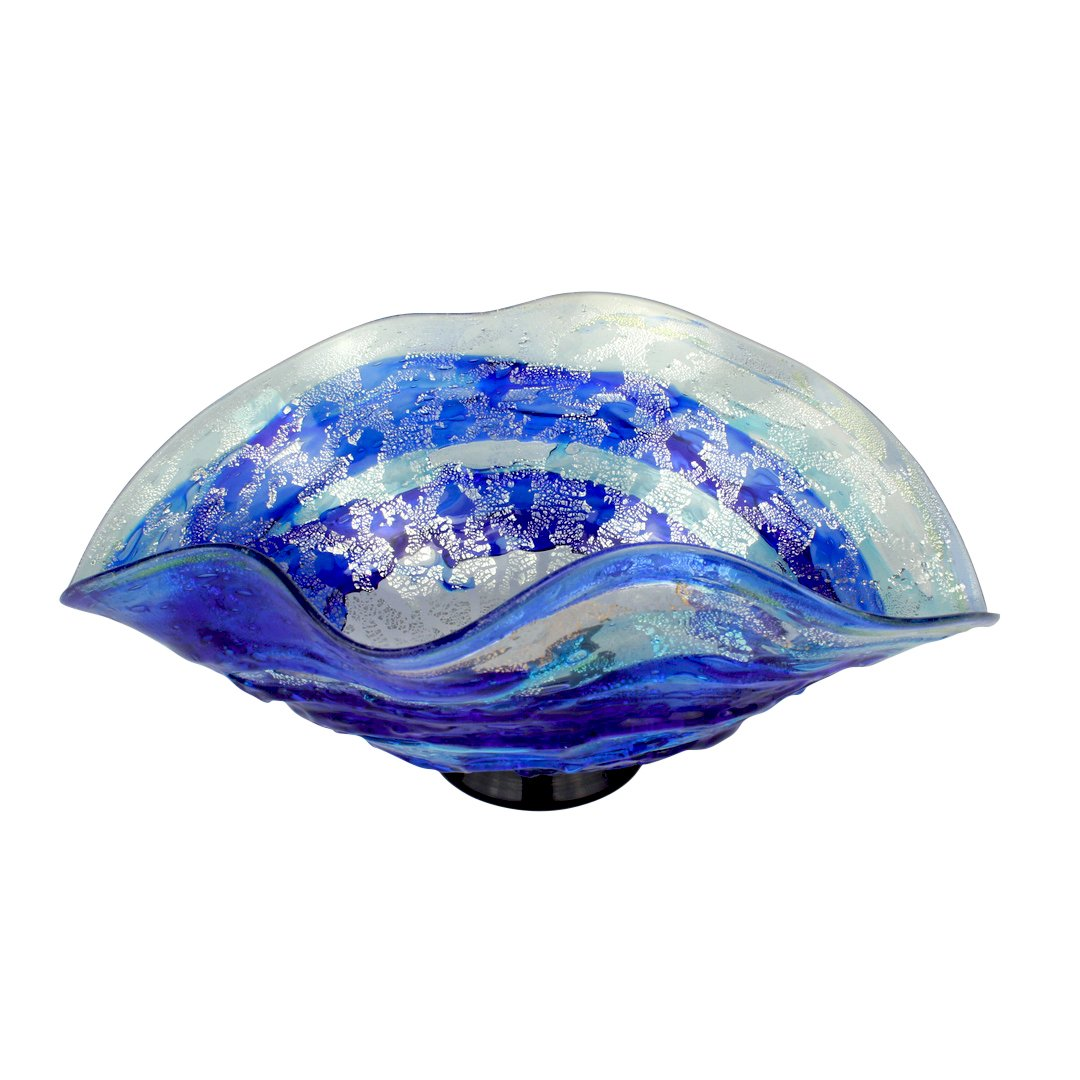 Centerpiece Sbruffi Deep Ocean Blue - Murano Glass centerpiece