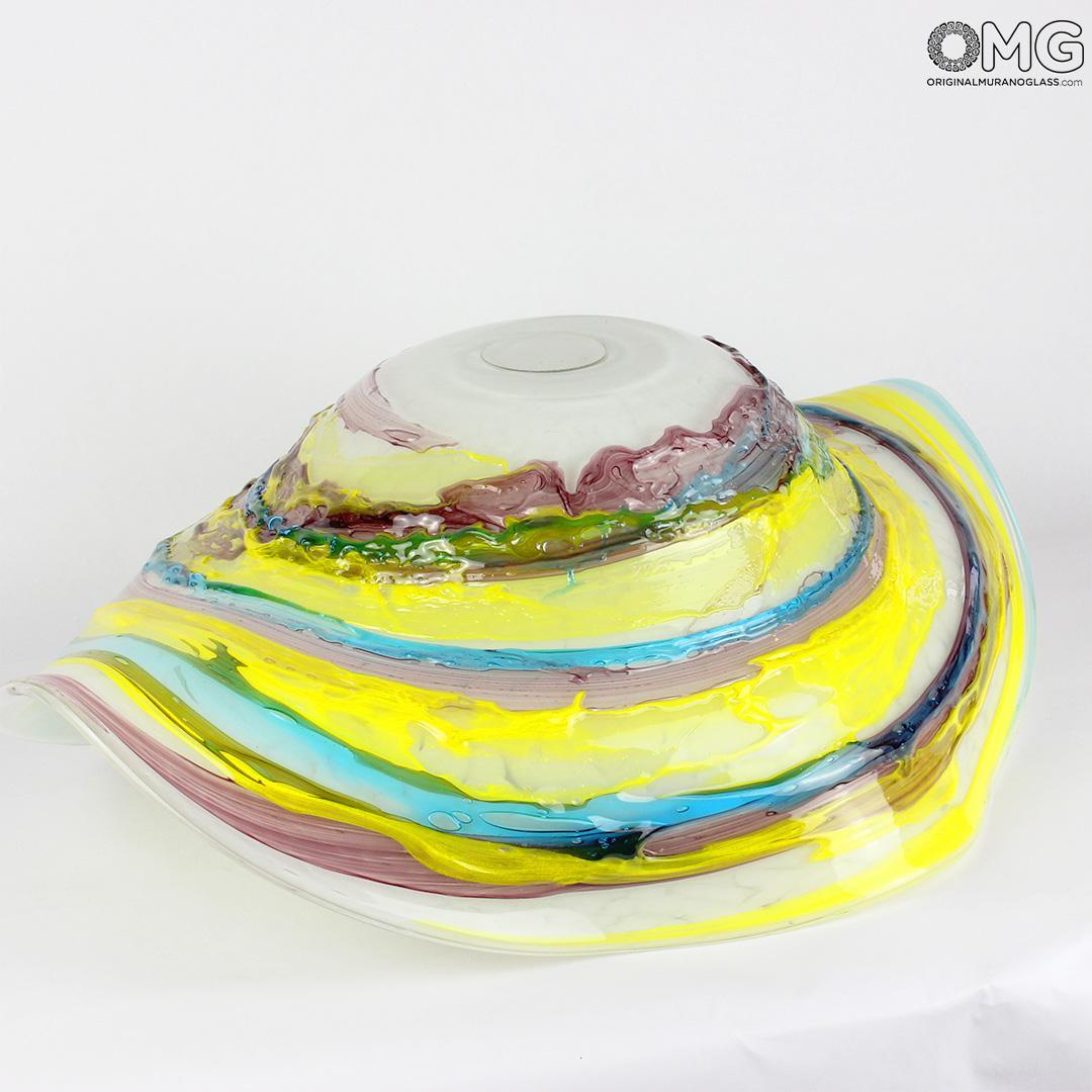 Декоративная чаша Sombrero Imperial из муранского стекла