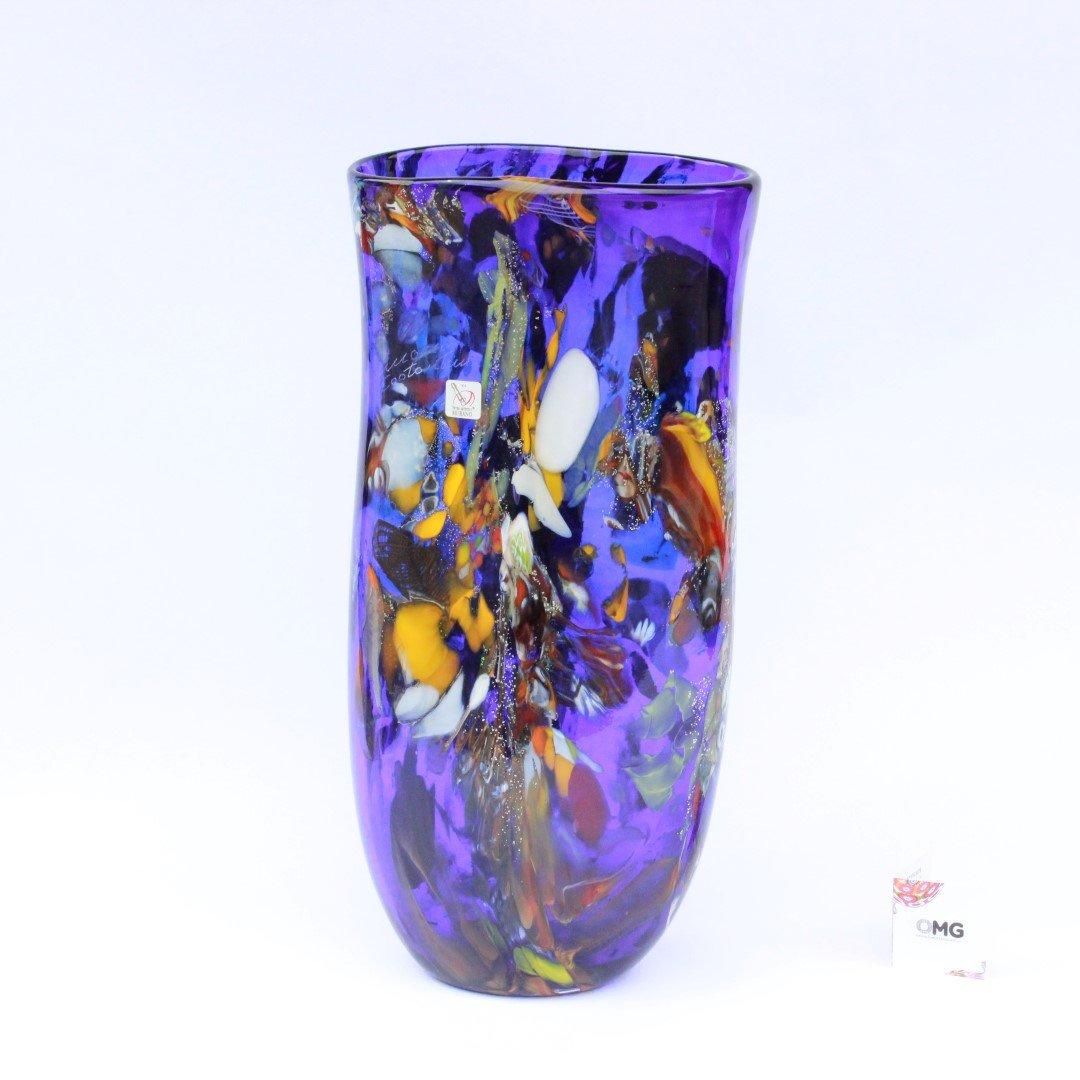 Vase Midnight Sun Multicolor Blue - Murano Glass vase