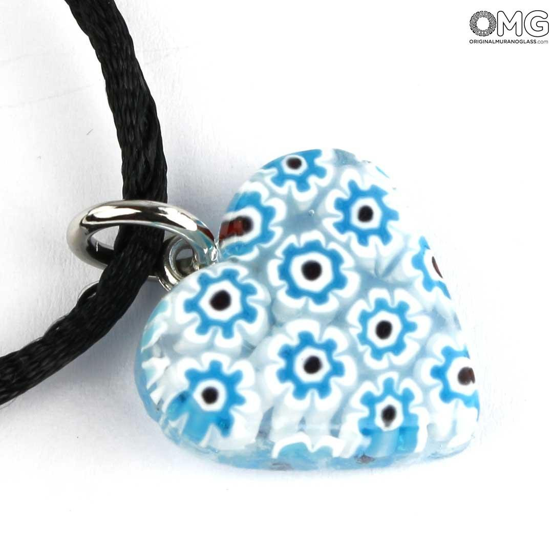 Millefiori Heart - different colors - Orignal Murano Glass OMG