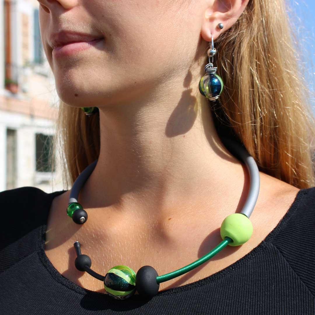 Necklace Persia - Green - Original Murano Glass