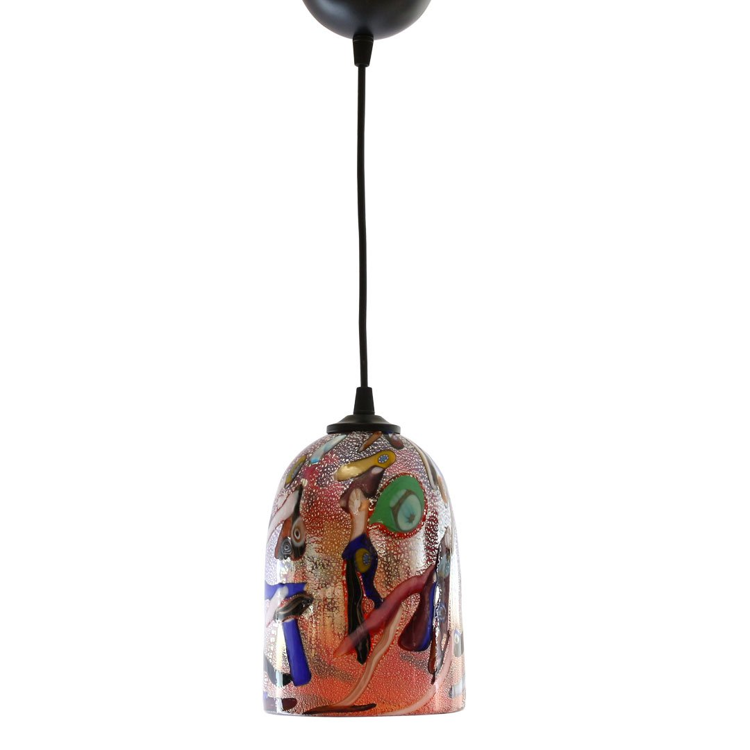 Hanging Lamp Mirò - Red - Original Murano