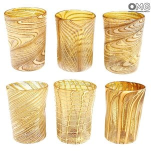 amber_murano_glass_glasses_set_1