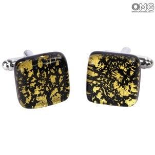 袖扣_gold_murano_glass_1