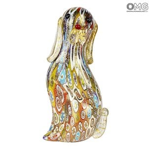 dog_multicolor_millefiori_murano_glass