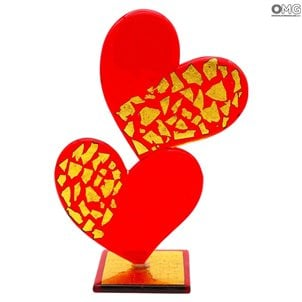 double_heart_sculpture_murano_glass_1