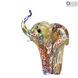 elephant_murano_glass_with_millefiori_murrine