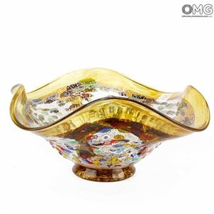 goccia_amber_centerpiece_murano_glass