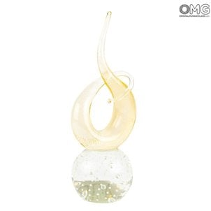 gold_love_knot_murano_glass_with_gold_leaf_1