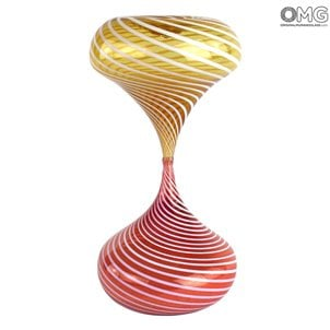 hourglass_red_orange_murano_glass_4