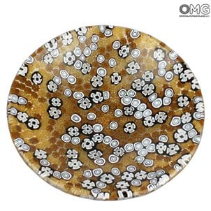 murano_millefiori_plate_murano_glass_brown