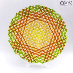 omg_original_murano_glass_dish_round_circular_web_yellow_red_green_01