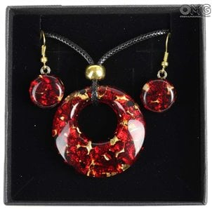 parure_planet_red_murano_glass_1