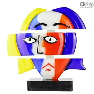 picasso_head_omg_murano_glass_handmade