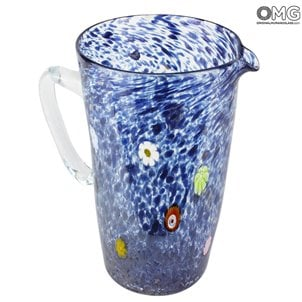 pitcher_caraffa_murano_glass_blue_millefiori_omg