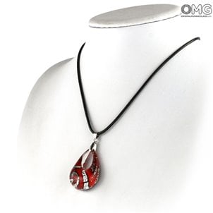 red_and_silver_drop_pendant_murano_glass_jewels_2