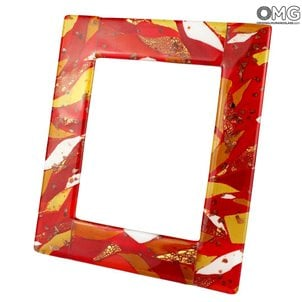 red_photo_frame_murano_glass_3_gift_idea