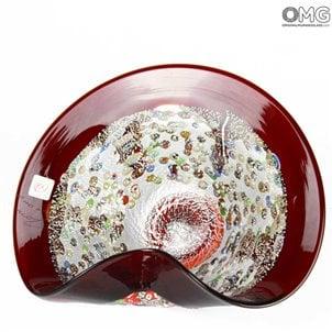red_punk_centerpiece_murano_glass