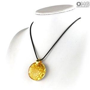 Spider_orange_pendant_murano_glass_jewels_2