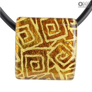square_pendant_orange_murano_glass_1