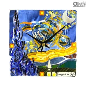 table_clock_van_gogh_night_murano_glass_1