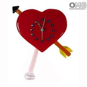wall_clock_watch_murano_glass_heart_love