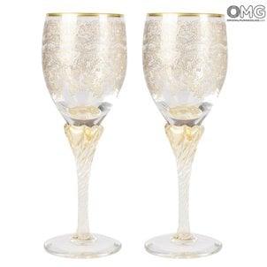 wine_barocco_flute_murano_glass_カップル
