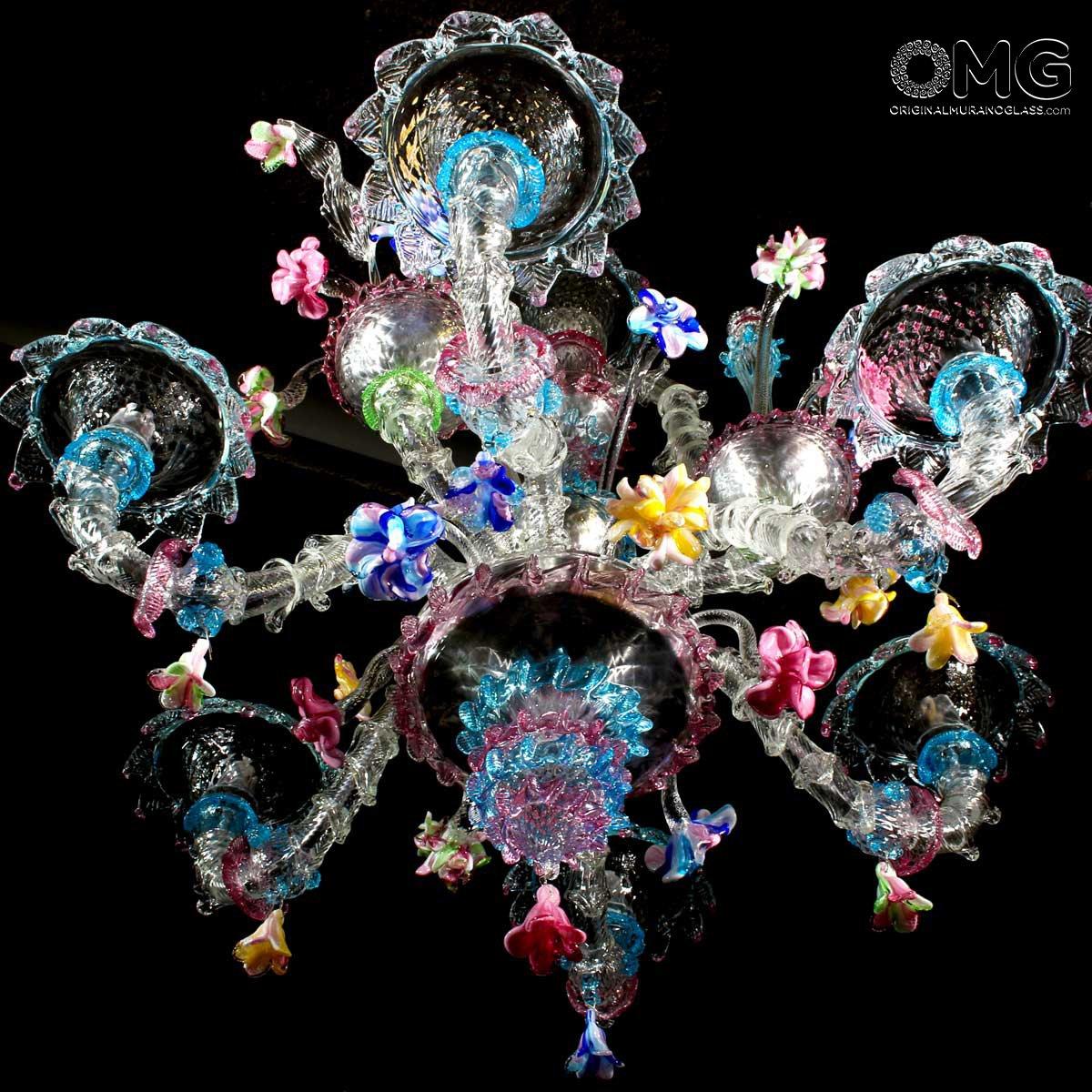 Venetian Chandelier Fiorito - Rezzonico - Murano Glass - 6 lights