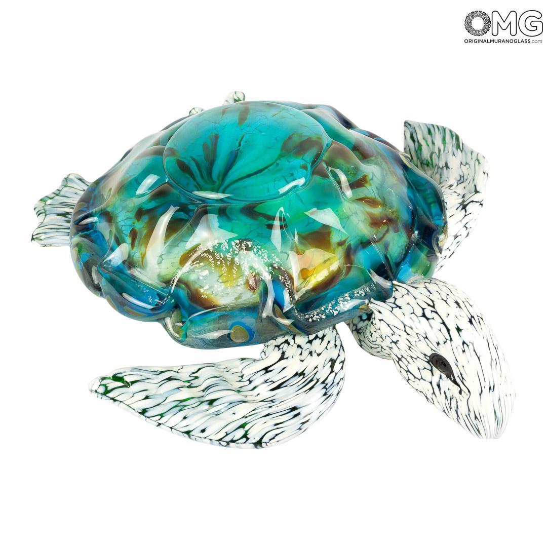 Sea Turtle - Blue Fantasy - Original Murano Glass OMG