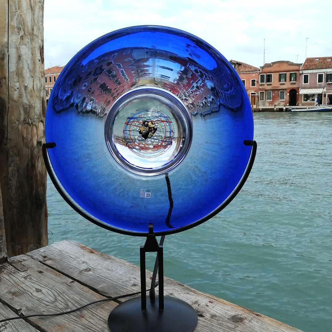 Настольная лампа Небо - муранское стекло OMG
