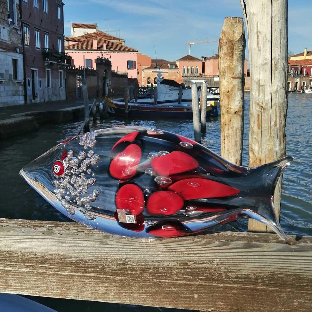 魚 - ムラーノガラス彫刻