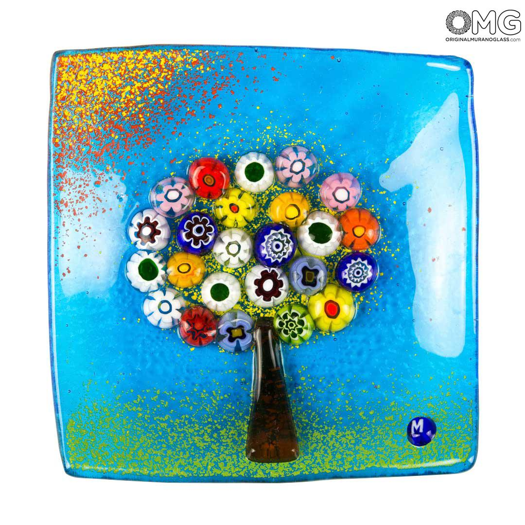 The Tree of Life - Plate Empty pocket - Original Murano Glass Millefiori