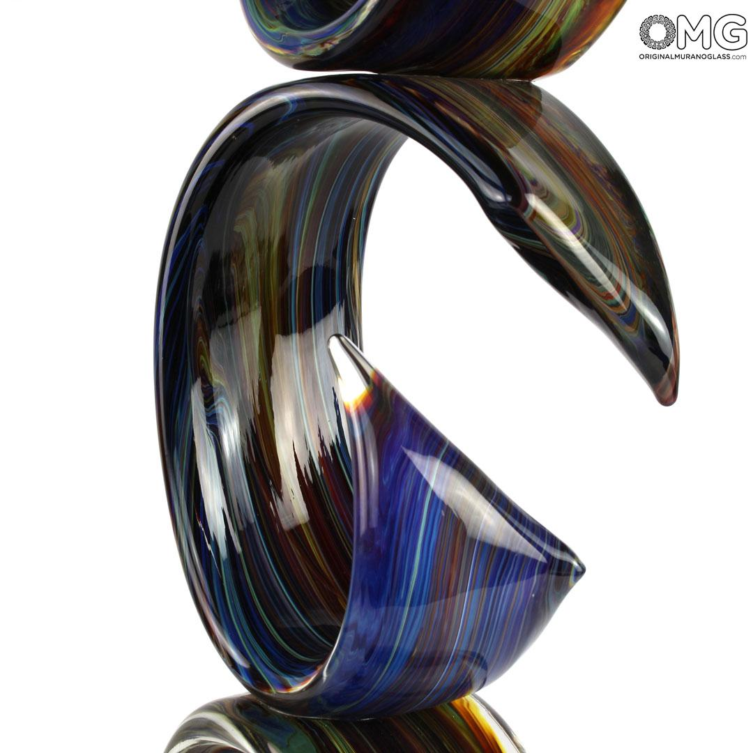 Скульптура  Тройная лента - автор Andrea Tagliapietra - муранское стекло OMG