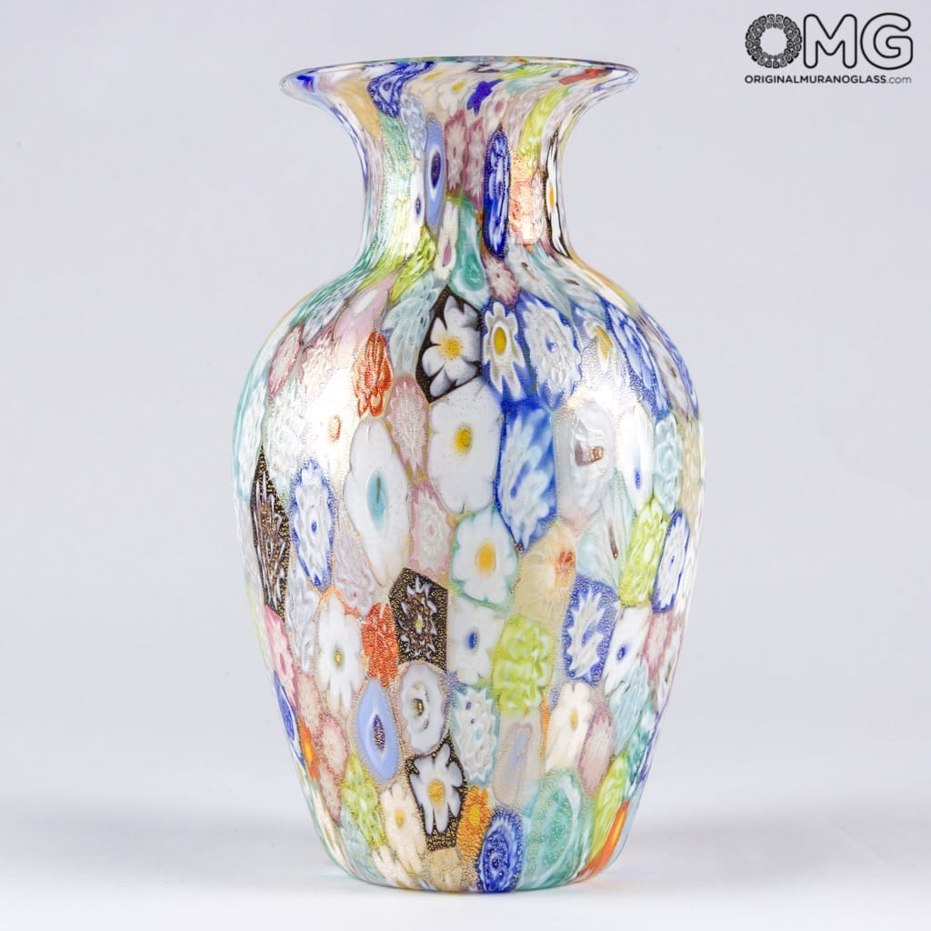 Vase Millefiori Colourful Mix - Origianl Murano Glass