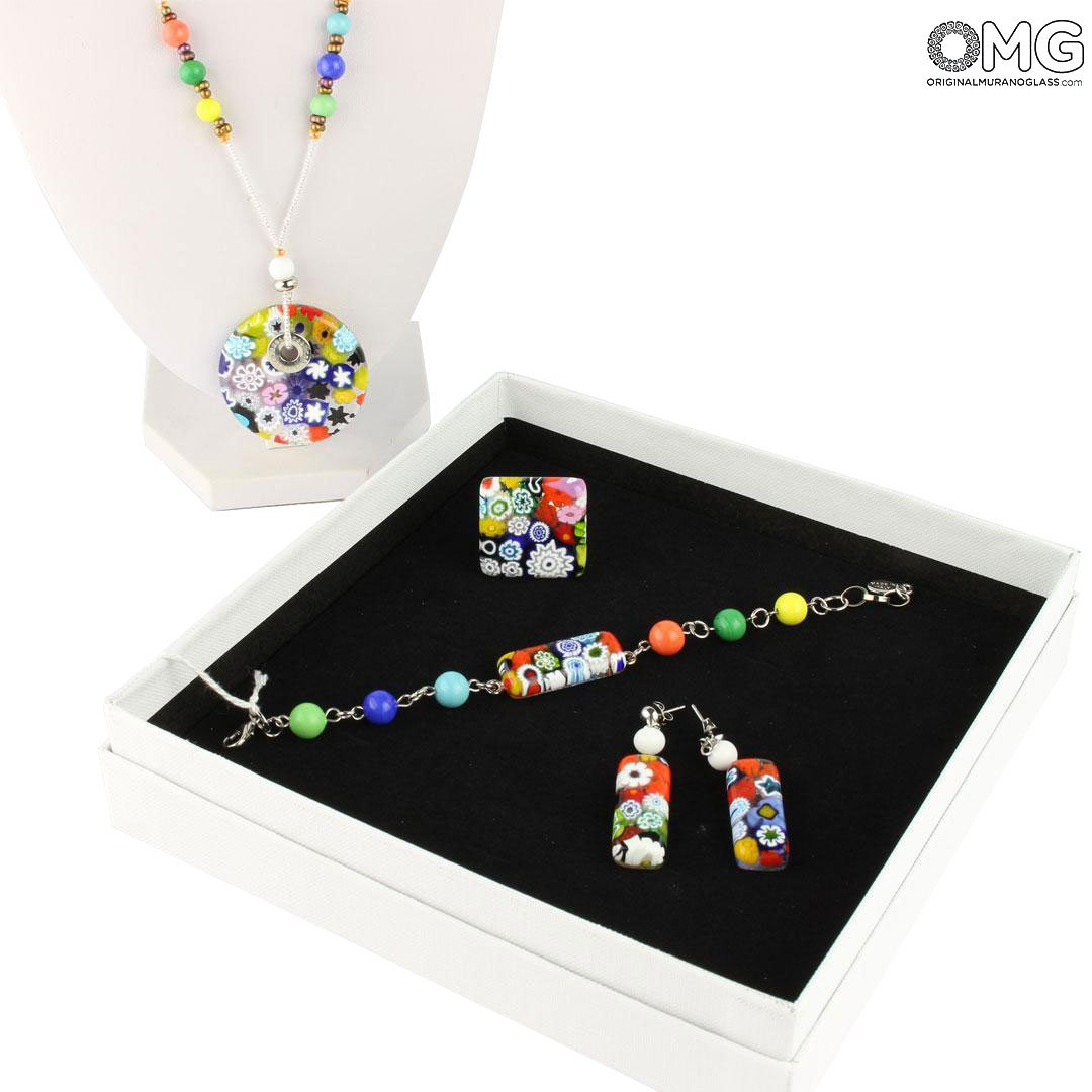 Parure Millefiori - with murrine - Original Murano Glass